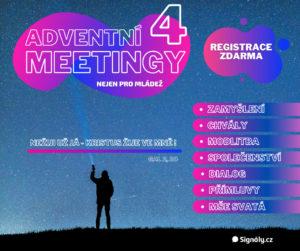 Pozvánka na 4 ADVENTNÍ MEETINGY