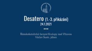 2. přednáška o svátosti smíření (24. ledna 2021)