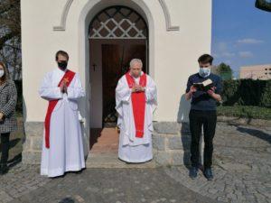 Mše v kapli sv. Jiří v Lobečku (2021)